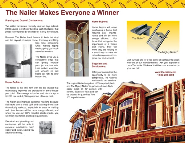 the nailer brochure example